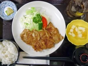 「ひょうたん亭」の生姜焼き定食